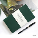 Green - The Basic official slim undated weekly diary