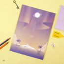 02 - Moonlight B5 size grid-lined class notebook