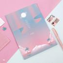 06 - Moonlight B5 size grid-lined class notebook