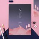 08 - Moonlight B5 size grid-lined class notebook