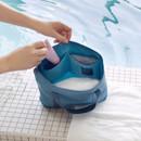Blue gray - Byfulldesign Travelus travel medium zipper tote bag