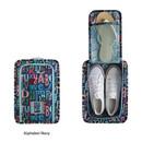 Alphabet navy - Monopoly Enjoy journey travel zip shoes pouch bag
