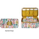 Alphabet beige - Monopoly Enjoy journey travel pouch bag for underwear and bra