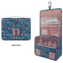 Hello blue - Enjoy journey large travel hanging toiletry pouch bag