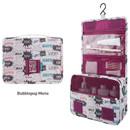 Bubblepop mono - Enjoy journey large travel hanging toiletry pouch bag