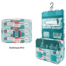 Bubblepop mint - Enjoy journey large travel hanging toiletry pouch bag