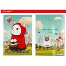 Red hood - Choo Choo cat A5 ruled lined notebook ver2