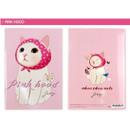 Pink hood - Choo Choo cat A5 ruled lined notebook ver2