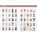 Costume - Choo Choo cat A5 ruled lined notebook ver2