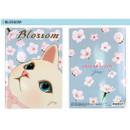 Blossom - Choo Choo cat A5 ruled lined notebook ver2