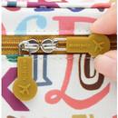 Rubber zipper slider - Monopoly Enjoy journey travel large mesh zipper pouch