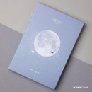 Morning blue - Moon rabbit hardcover undated weekly diary planner