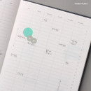 Yearly plan 1 - Moon rabbit hardcover undated weekly diary planner