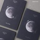 Midnight navy - Moon rabbit hardcover undated weekly diary planner