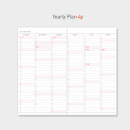 Yearly plan - Paperian 2019 Edit small dated weekly diary planner