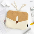 Colly - ROMANE My rolly face cotton zipper pouch