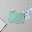 Baby mint - Lovelyborn daily zipper flat small pouch