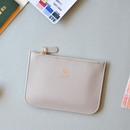Cool gray - Lovelyborn daily zipper flat small pouch
