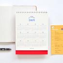 Yearly - 2019 Heart spiral bound desk calendar