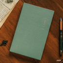 Green - The Meaningful time small undated daily diary journal