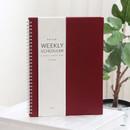 Wine - Indigo Prism spiral bound undated weekly diary planner