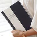 Navy - Indigo Prism spiral bound undated weekly diary planner