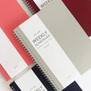 Indigo Prism spiral bound undated weekly diary planner