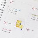 Year monthly plan - Indigo Prism spiral bound undated weekly diary planner