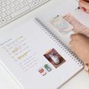 Grid note - Indigo Prism spiral bound undated weekly diary planner
