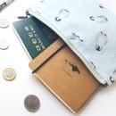 Penguin - Pattern medium cotton flat zipper pouch