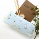 Penguin - O-check Pattern cotton pencil case pouch