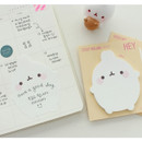 Example of use - Molang basic cute sticky memo note
