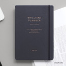 Charcoal - 2019 Brilliant simple dated weekly planner