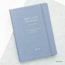 Pale blue - 2019 Brilliant simple dated weekly planner