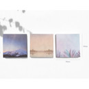 Size - O-check Four seasons plain memo notepad