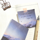 Night sky - O-check Four seasons plain memo notepad
