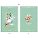Mint - Alice in wonderland hardcover dateless daily diary planner