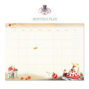 Monthly plan - Alice in wonderland hardcover dateless daily diary