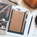 Beige - The time planner small undated daily diary agenda ver3