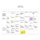 Monthly plan - The time planner large dateless weekly planner