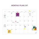 Monthly plan - Rainbow dateless weekly diary planner