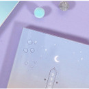 Clear PVC cover - Moon piece large dateless weekly diary agenda