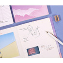 Grid note - Moon piece large dateless weekly diary agenda