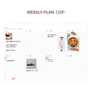 Weekly plan - The moments dateless weekly diary planner
