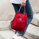Red - Som Som durable taslan bucket shoulder bag