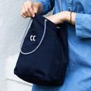 Navy - Som Som durable taslan bucket shoulder bag