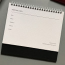 Personal data - 2019 Colorful illustration dated monthly desk scheduler