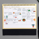 Monthly plan - 2019 Colorful illustration dated monthly desk scheduler