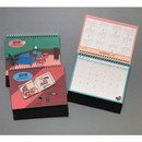 2019 Colorful illustration dated monthly desk scheduler