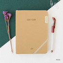Beige - 2019 Day by Day large dated weekly diary
